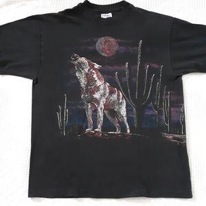 Vintage wolf shirt